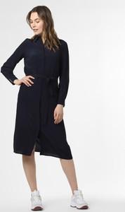 Niebieska sukienka Esprit z golfem z długim rękawem w stylu casual