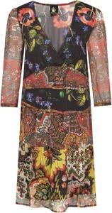 Sukienka Desigual mini z dekoltem w kształcie litery v
