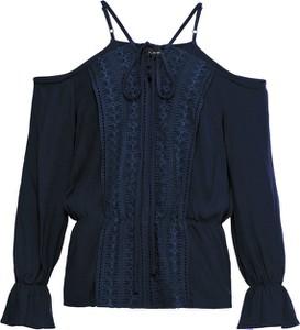 Niebieska bluzka bonprix BODYFLIRT z długim rękawem