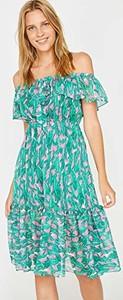 Niebieska sukienka amazon.de w stylu boho