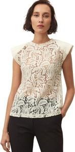 Bluzka ECHO z okrągłym dekoltem z bawełny