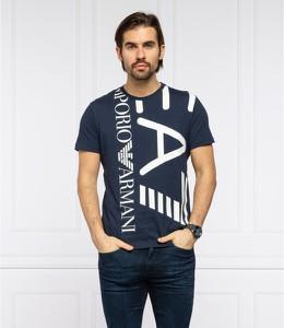 T-shirt Emporio Armani w młodzieżowym stylu z nadrukiem