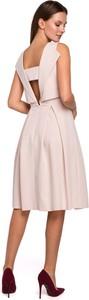 Sukienka Butik midi z dekoltem w kształcie litery v
