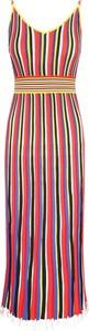 Sukienka Pinko w stylu casual z okrągłym dekoltem midi