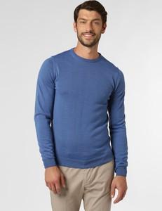 Niebieski sweter Finshley & Harding z dzianiny