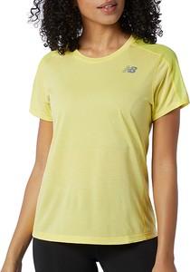 Żółty t-shirt New Balance z okrągłym dekoltem