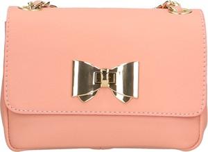 Różowa torebka Arturo Vannini mała na ramię