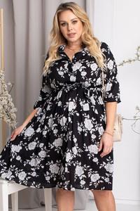 Sukienka KARKO szmizjerka mini z długim rękawem