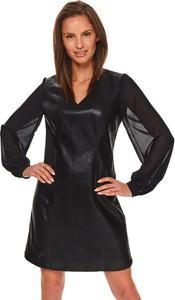 Sukienka Top Secret mini z dekoltem w kształcie litery v koszulowa