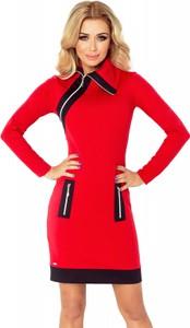 Sukienka NUMOCO mini z asymetrycznym dekoltem