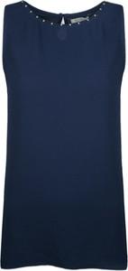 Niebieska bluzka Fracomina Bluzka z tkaniny bez rękawów
