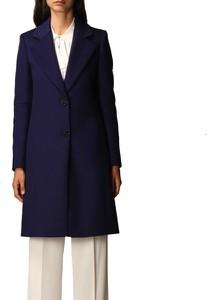 Granatowy płaszcz Patrizia Pepe w stylu casual
