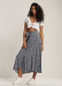 Niebieska spódnica Renee w stylu boho midi