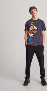 Granatowy t-shirt Reserved z krótkim rękawem