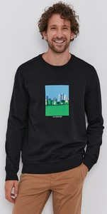 Czarna bluza United Colors Of Benetton z dzianiny w młodzieżowym stylu