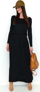 Czarna sukienka Numinou maxi z długim rękawem