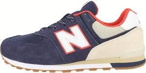 Buty sportowe New Balance z tkaniny sznurowane z płaską podeszwą