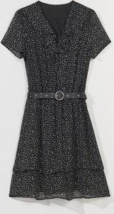 Sukienka Mohito z krótkim rękawem z szyfonu mini