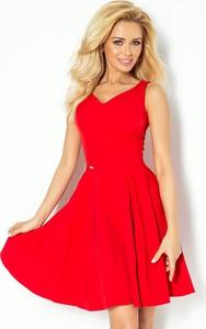 Czerwona sukienka NUMOCO z dekoltem w kształcie litery v mini na ramiączkach