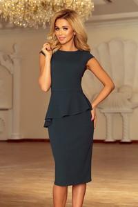 Czarna sukienka NUMOCO z krótkim rękawem