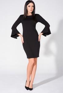 Czarna sukienka sukienki.pl z długim rękawem