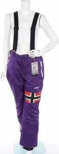 Fioletowy kombinezon Geographical Norway z nadrukiem z długimi nogawkami w sportowym stylu