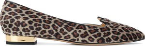 Baleriny Charlotte Olympia ze skóry w stylu casual