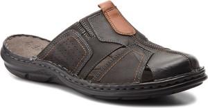 Czarne buty letnie męskie Lasocki For Men z nubuku w stylu casual