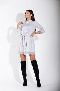 Sukienka Pawelczyk24.pl z długim rękawem mini szmizjerka