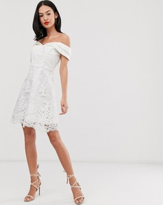Sukienka Chi Chi London mini z krótkim rękawem