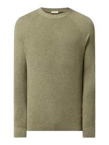 Zielony sweter Esprit z okrągłym dekoltem
