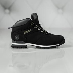 Czarne buty zimowe Timberland w stylu casual sznurowane