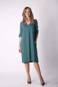 Sukienka Nommo z dekoltem w kształcie litery v z długim rękawem oversize