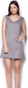 Sukienka Figl mini z okrągłym dekoltem