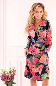 Sukienka MERRIBEL z dekoltem w kształcie litery v z długim rękawem