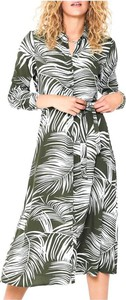 Sukienka Only z długim rękawem w stylu casual koszulowa
