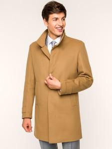 Brązowy płaszcz męski Strellson