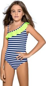 Lorin dziewczęcy kostium kąpielowy aldene niebiesko-biały