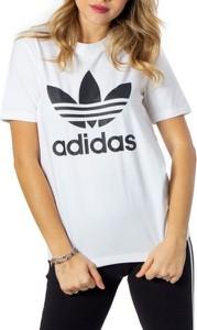 T-shirt Adidas w sportowym stylu z krótkim rękawem