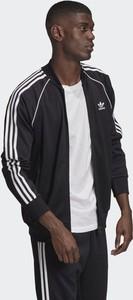 Czarna bluza Adidas Originals w sportowym stylu z dresówki