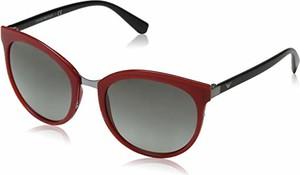 Czerwone okulary damskie Emporio Armani