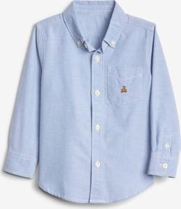 Niebieska koszula dziecięca Gap z bawełny