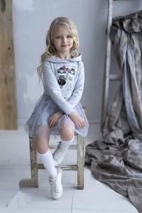 Sukienka dziewczęca All For Kids z dzianiny