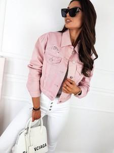 Różowa kurtka Infinityfashion.pl z bawełny w stylu casual