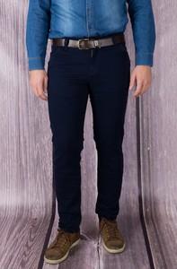 Granatowe jeansy Vertus z bawełny