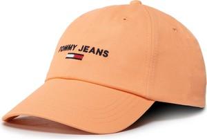 Pomarańczowa czapka Tommy Jeans