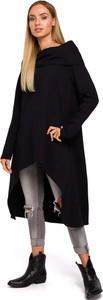 Tunika MOE z dzianiny w stylu casual z długim rękawem