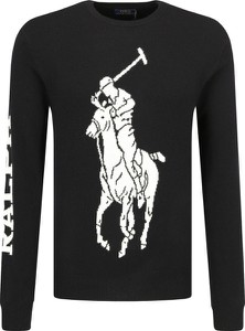 Sweter POLO RALPH LAUREN z nadrukiem z wełny