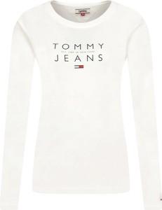 Bluzka Tommy Jeans z długim rękawem z okrągłym dekoltem