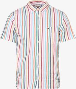 Koszula Tommy Jeans z krótkim rękawem z kołnierzykiem button down